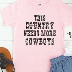 Country Needs Cowboys Blush Graphic Tee